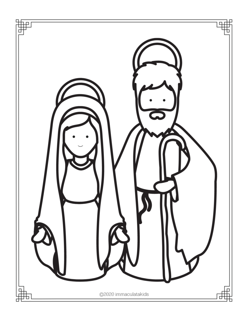 Free Printable Library Colouring Page Mary