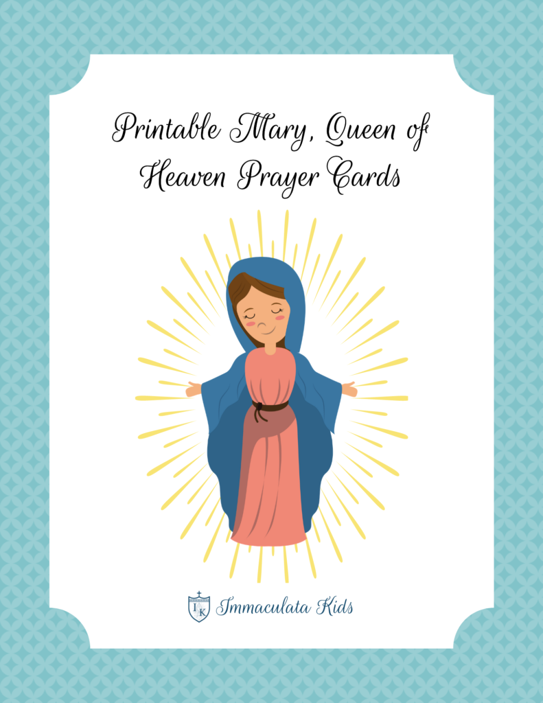 Mary Queen of Heaven Prayer Card Set